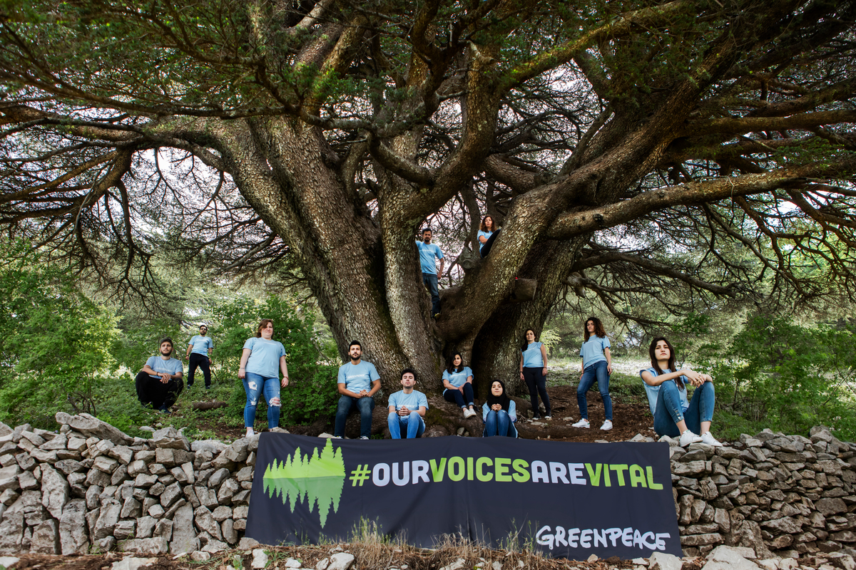 """Our Voices Are Vital"" Activity in Lebanon © Charbel Bouez / Greenpeace"