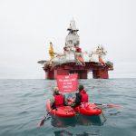 Arctic Sunrise Protests Arctic Oil Drilling in Barents Sea © Nick Cobbing / Greenpeace
