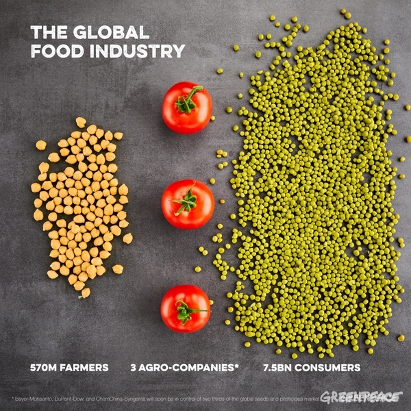 As of End-2017, 3 Agro-companies Will Dominate the Global Agro-system. 21 Feb, 2017 © Mitja Kobal / Greenpeace