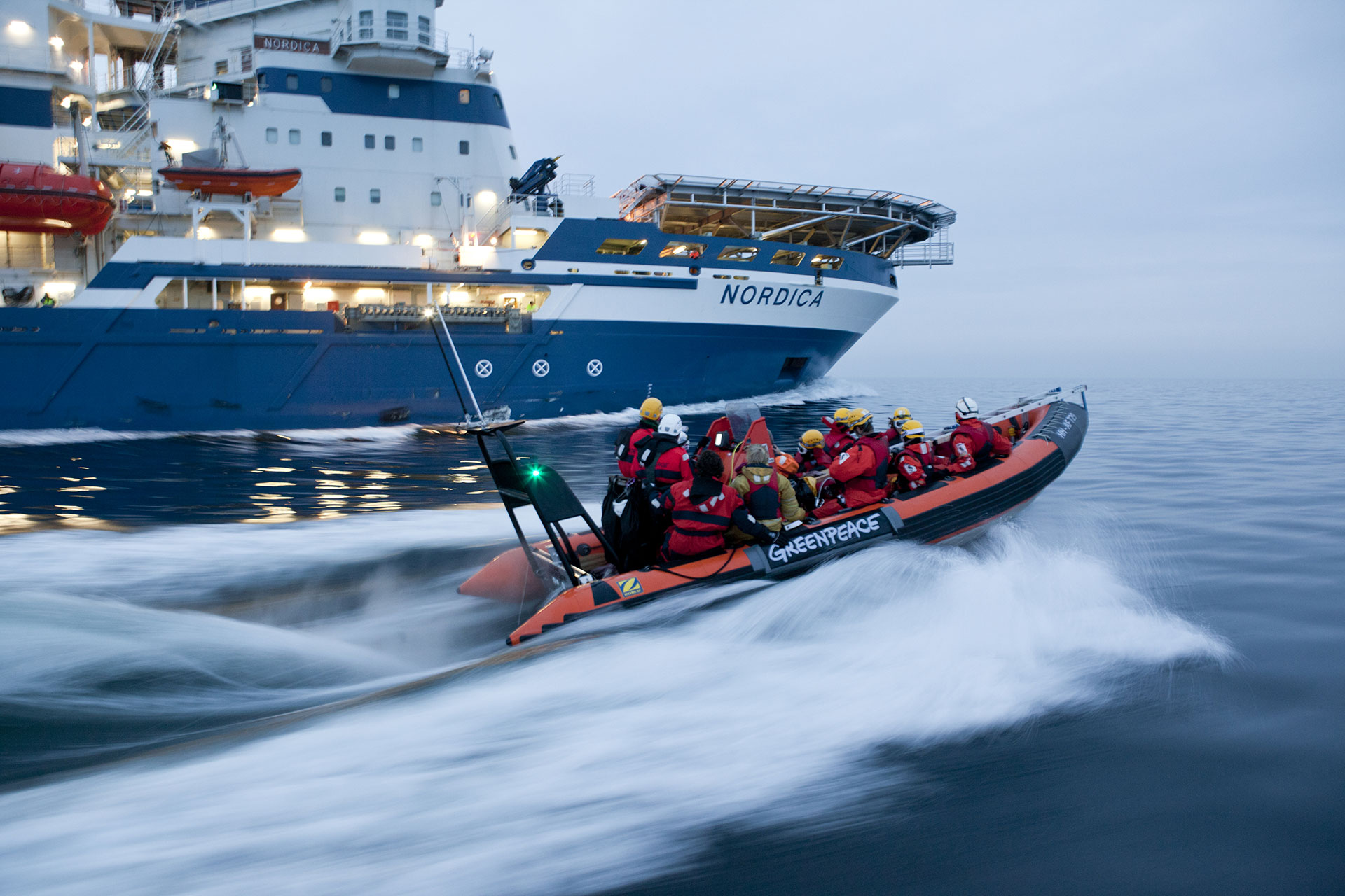 Nordica Icebreaker Action near Rügen. © Joerg Modrow / Greenpeace