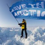 Team Aurora Arrives at the North Pole © Christian Åslund / Greenpeace