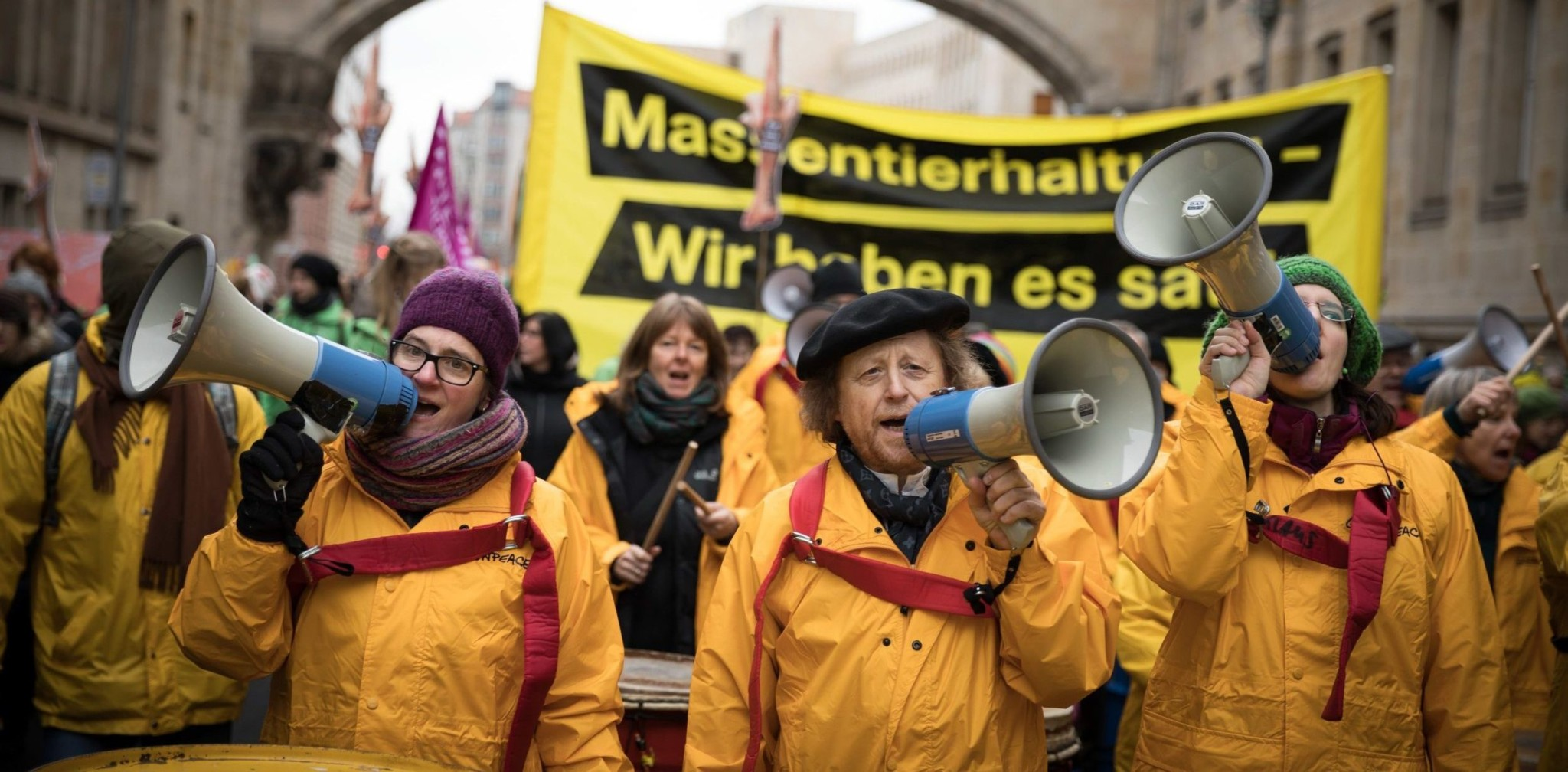 """We Have Had Enough"" Demonstration in Berlin. © Gordon Welters / Greenpeace"