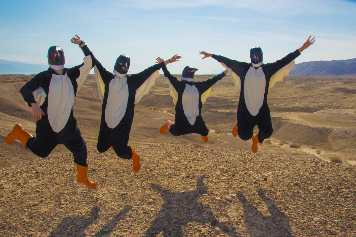 Rise of the Penguins in Israel © Elad Aybes / Greenpeace