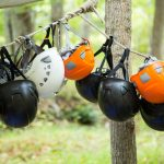 Helmets on Atlantic Coast Pipeline Training Camp in Virginia © Amanda J. Mason / Greenpeace