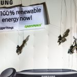 Protest in Berlin for Samsung to Commit to Clean Energy © Mike Schmidt / Greenpeace