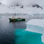 Arctic Sunrise in Charlotte Bay in the Antarctic © Christian Âslund / Greenpeace