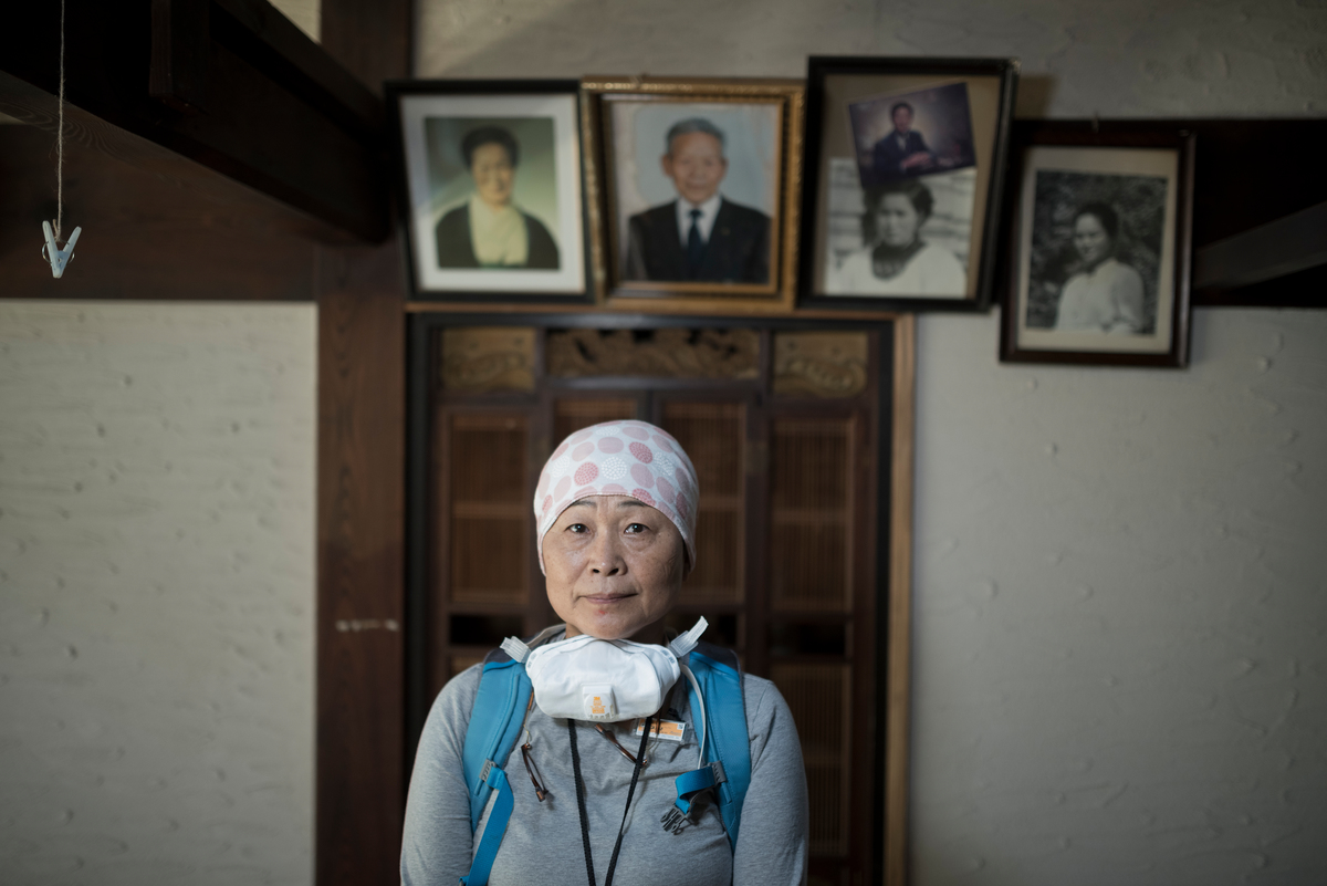 Mrs. Kanno at her House in Shimo-Tsushima © Christian Åslund / Greenpeace