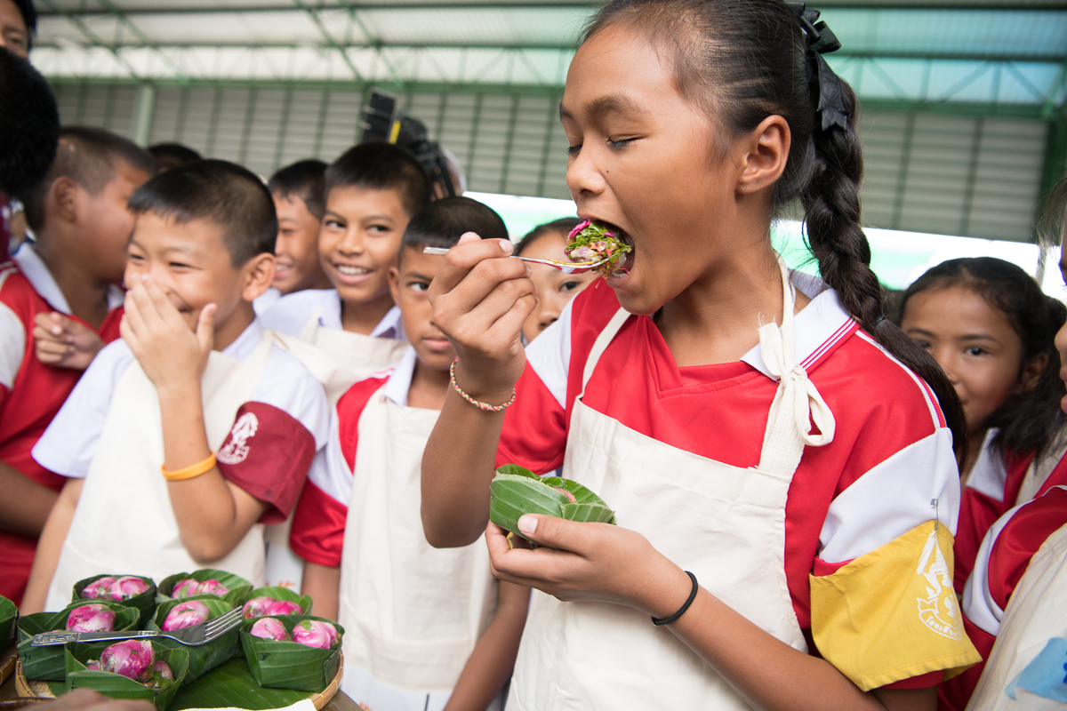 Sustainable School Lunch Program Launch in Thailand© Roengchai Kongmuang / Greenpeace