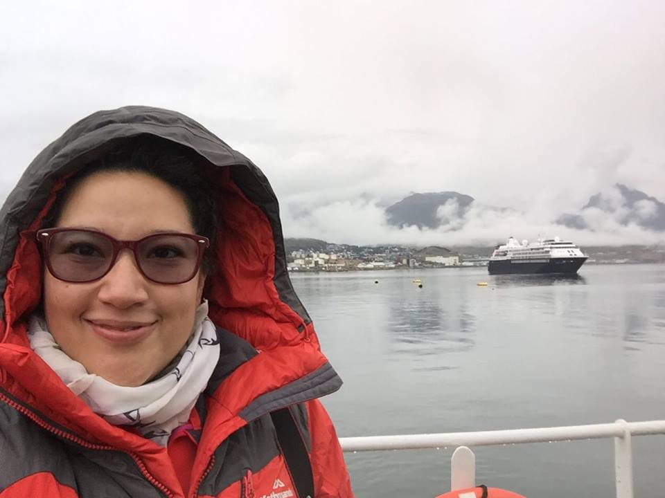 Sandra Guzmán, first female Mexican scientist to travel to Antarctica © Sandra Guzmán