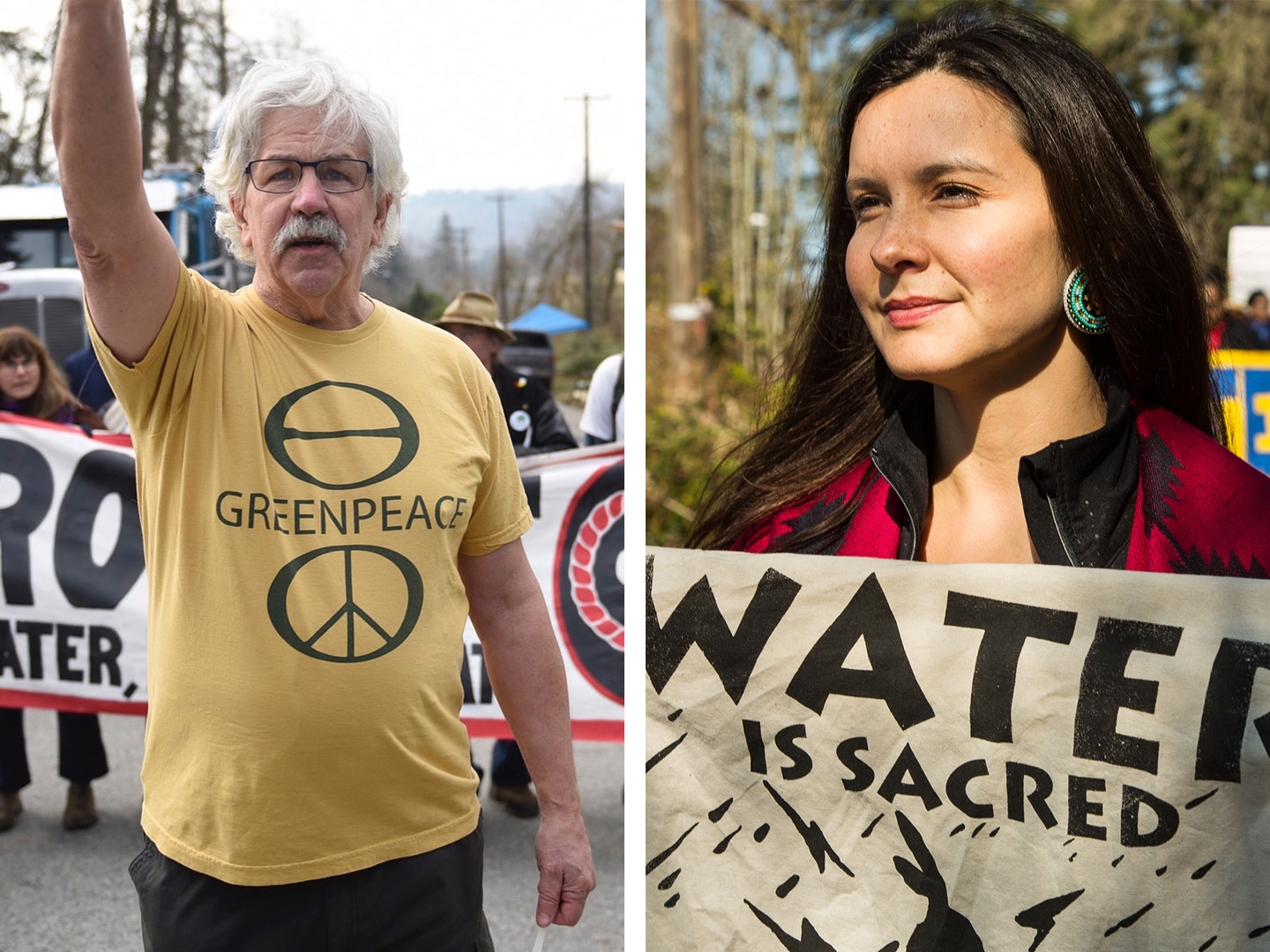 Greenpeace Founder Joins Indigenous-led Resistance to Kinder Morgan Pipeline © Rogue Collective