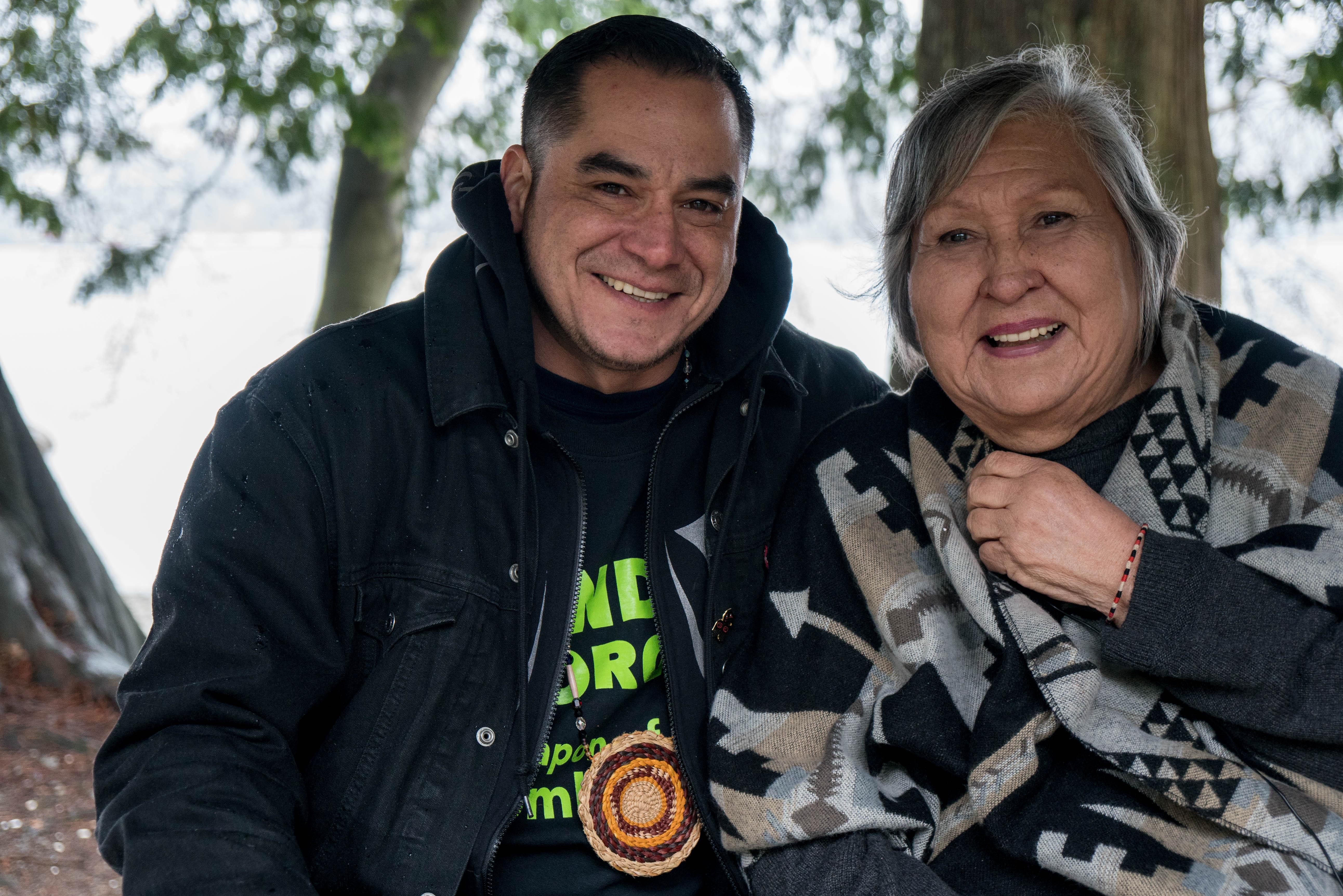Michael George and Ta'ah Amy George, Indigenous leaders. © Alex Harris