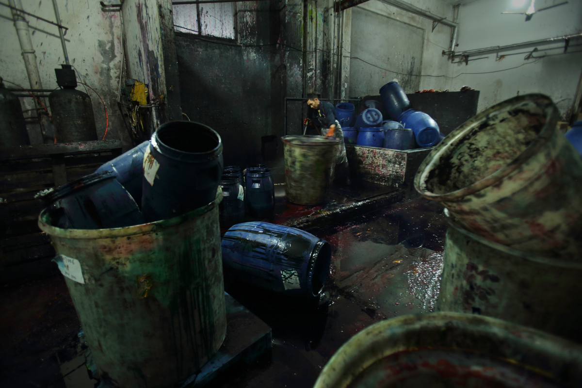 Dye factory in Shaoxing © Lu Guang / Greenpeace