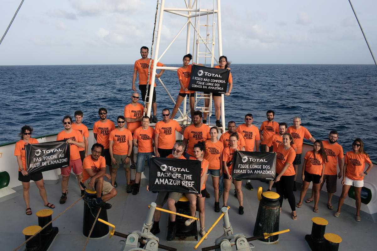Crew during Amazon Reef Expedition in Brazil © Marizilda Cruppe / Greenpeace