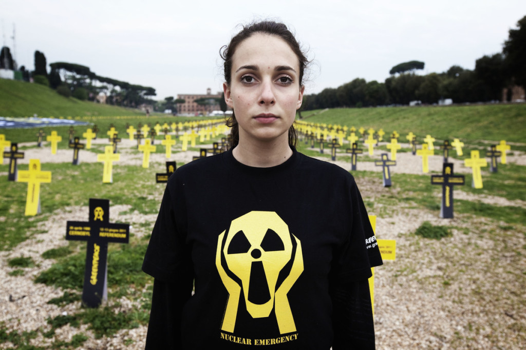 Chernobyl Anniversary Action in Rome © Francesco Alesi / Greenpeace