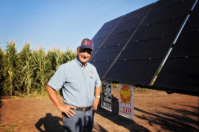 Jim Knopik of North Star Solar Bears, the installer of Solar XL © Juliana BrownEyes-Clifford