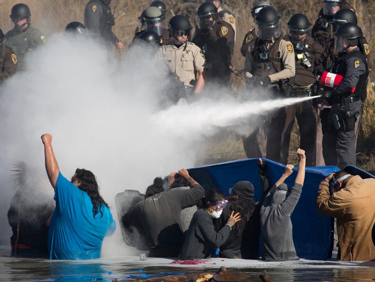 Water Protectors Dakota Access Pipeline Protests Continue © Richard Bluecloud Castaneda