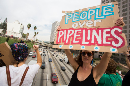 Dakota Access Pipeline Day of Action in Los Angeles © Jonathan Alcorn / Greenpeace