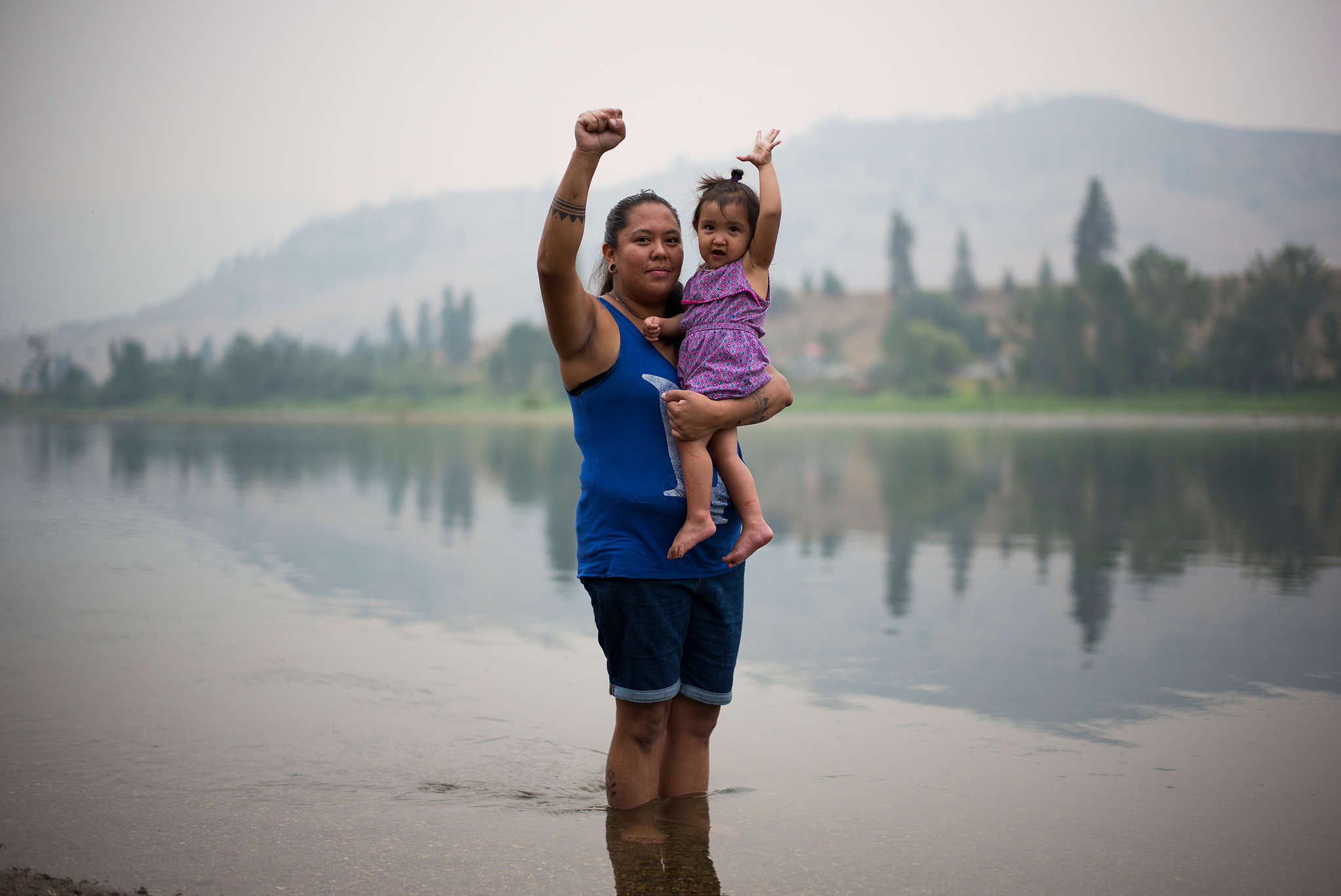 Activists from the Tiny House Warriors in Canada © Ian Willms / Greenpeace