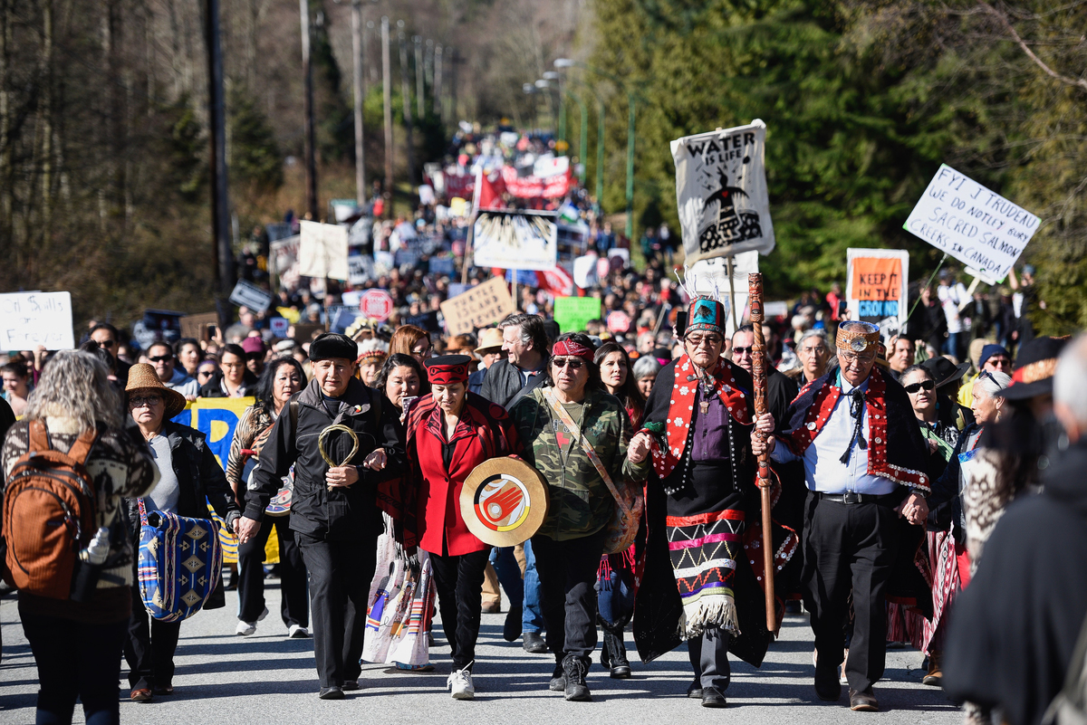 Indigenous-Led March in Metro Vancouver © Rogue Collective
