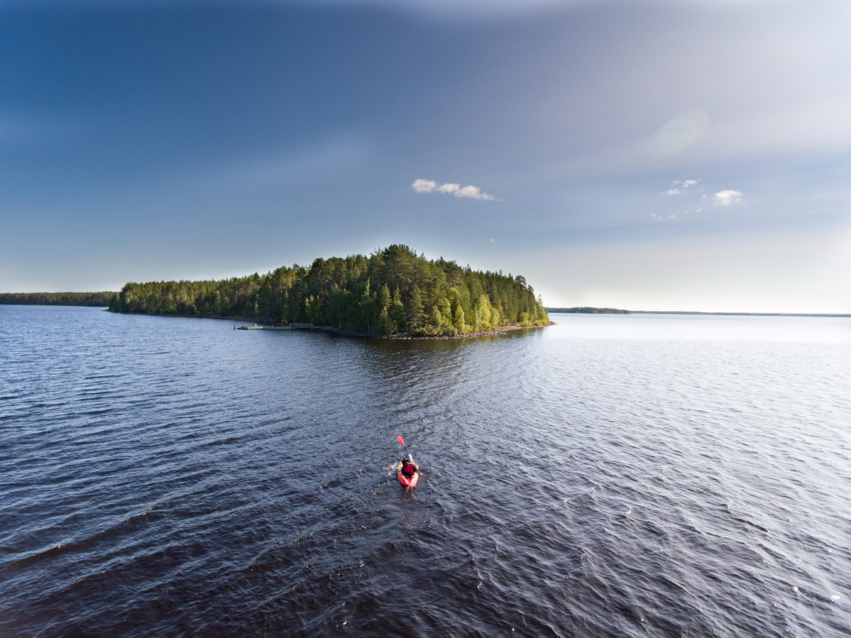 Island on Oulujärvi Lake in Finland © Jani Sipilä / Greenpeace