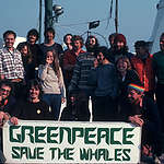 Rainbow Warrior Crew with Whaling Banner, 1978 © Greenpeace / Jean Paul Ferrero