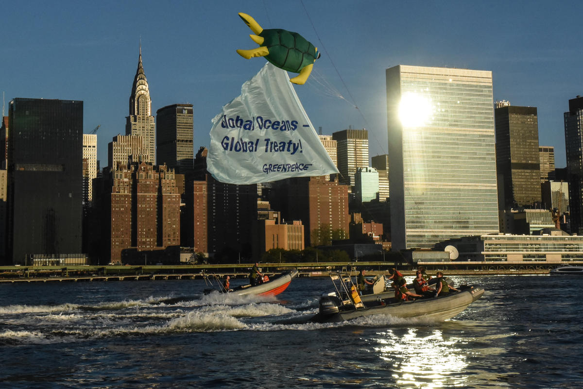 United Nations Ocean Message in New York. © Stephanie Keith