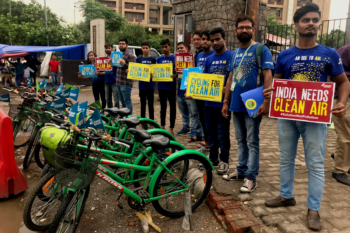 International Car-Free Day in New Delhi, India © Vishal Kumar / ChangeMakers