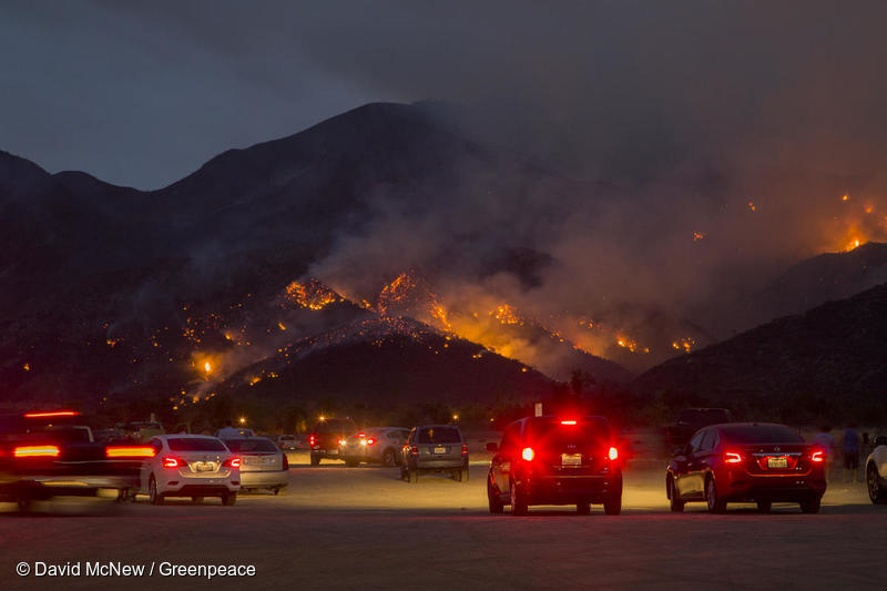 Holy Fire near Corona, California in August 2018 © David McNew/Greenpeace