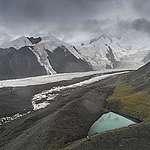 Aerial View of Halong Glacier, Amne Machin Mountain, Qinghai