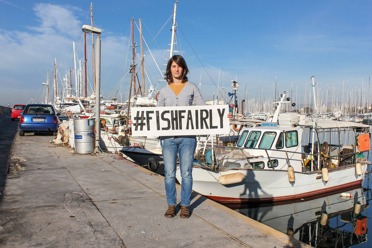 """Fish Fairly' Global Week of Action in Greece © Greenpeace"