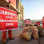 Coal Action at Generali Annual Meeting in Trieste, April 2018 © Lorenzo Moscia / Greenpeace