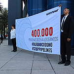 Petition Delivery to BBVA in Mexico.