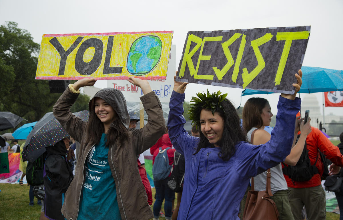 Youth Climate March in Washington D.C. © Katie Nelson