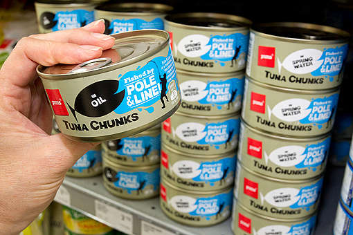 Sustainably Caught Canned Tuna. © Nigel Marple