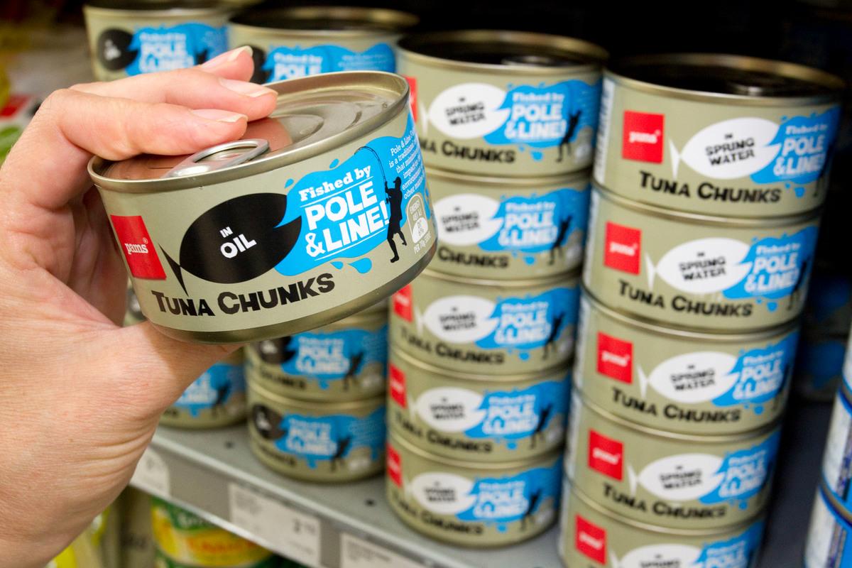 Sustainably Caught Canned Tuna. © Nigel Marple