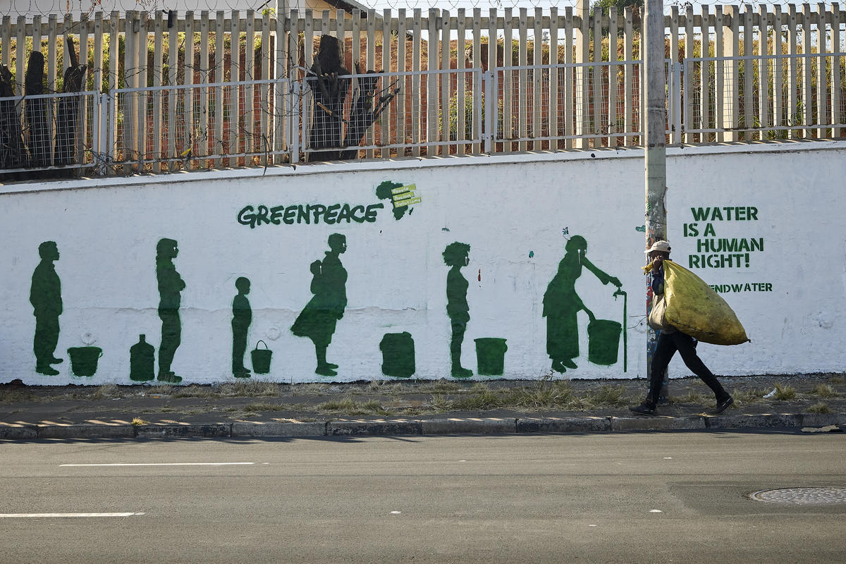 Greenpeace Africa Defend Water Campaign in Johannesburg. © Victor Sguassero