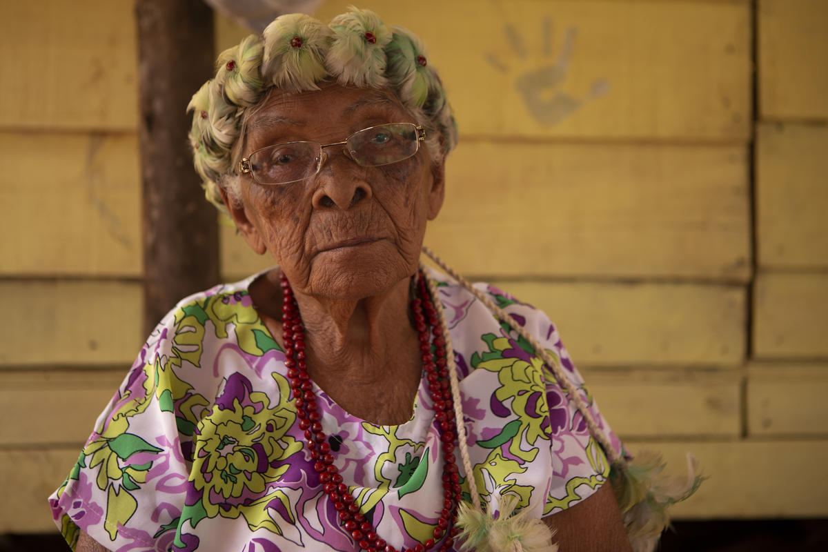 Antônia Remunganha, the indigenous elder of the Naô Xoha village affected by the dam collapse © Nilmar Lage