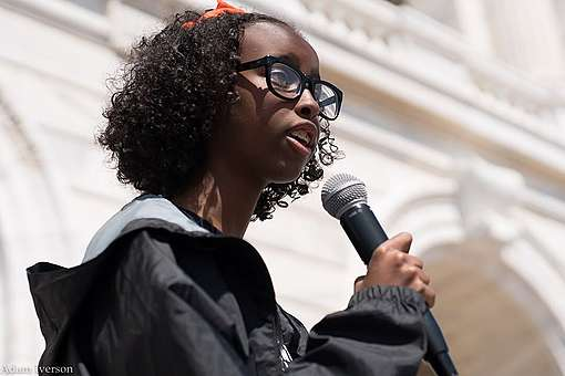 Youth Climate Strike US co-leader Isra Hirsi © Adam Iverson