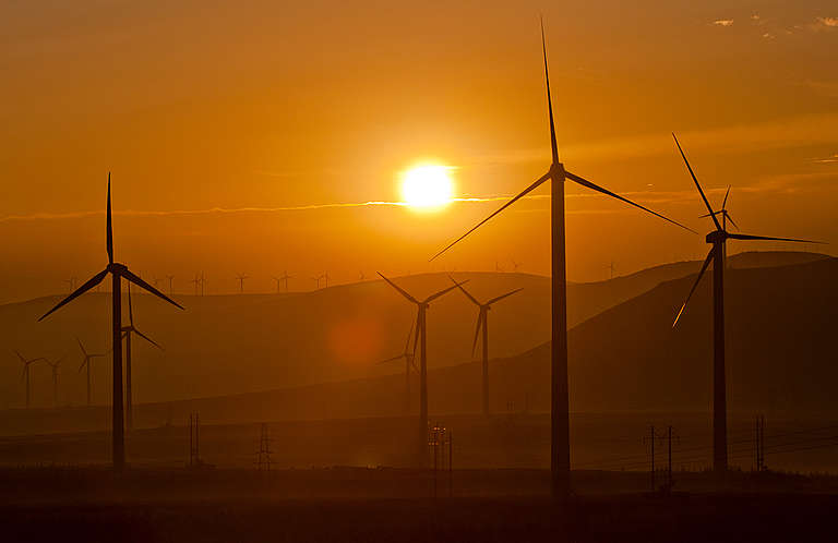 Saihanba Wind Farm in Inner Mongolia © Simon Lim / Greenpeace