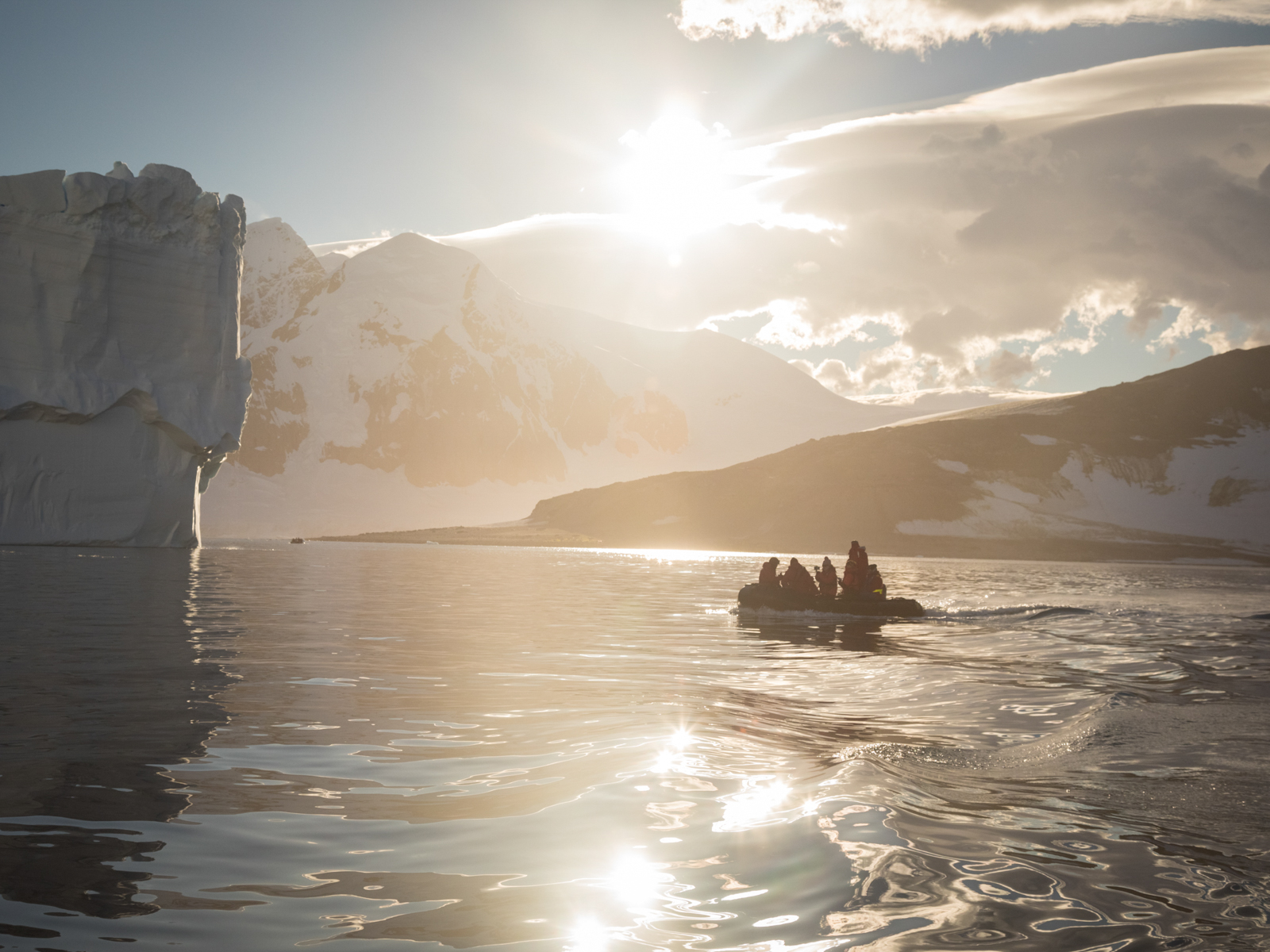 Sunrise off Danco Island, Antarctica. © Acacia Johnson