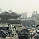Daily Average of Ultrafine Dust in Seoul to Reach Second Highest on Record. © David Jaemin Byun / Greenpeace
