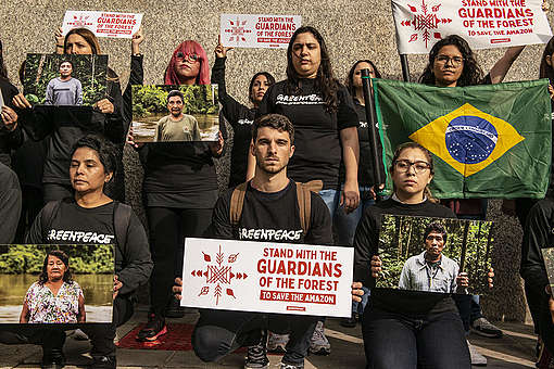 All Eyes on the Amazon - Solidarity Protest in Buenos Aires. © Martin Katz / Greenpeace