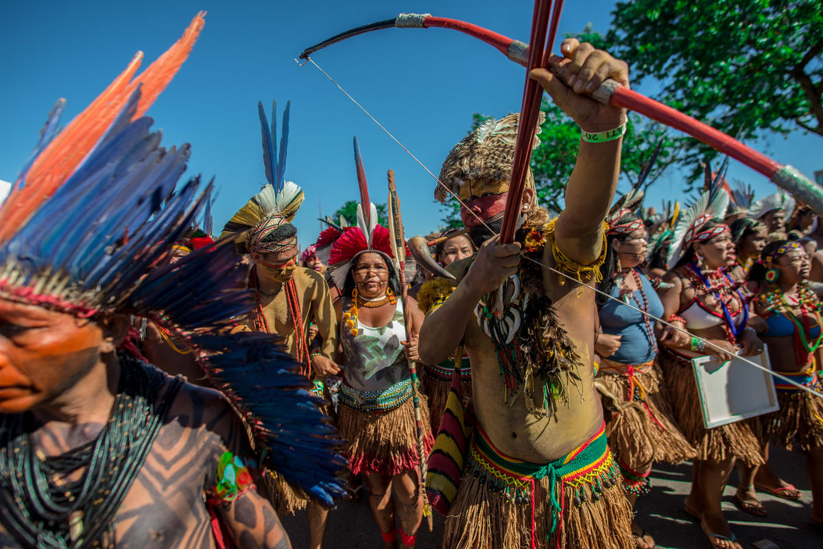 Indigenous Peoples in Brazil gathered at the Free Land Camp 2019 / © Christian Braga / MNI