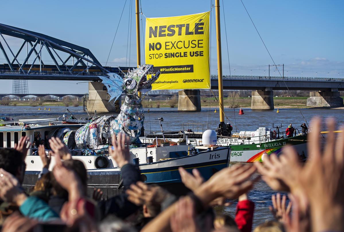 Greenpeace, plastics, art