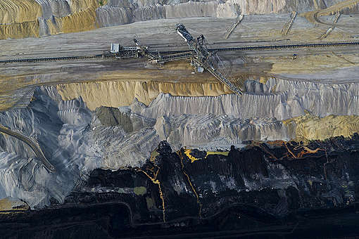 Aerials of Hambach Coal Mine in Germany. © Greenpeace