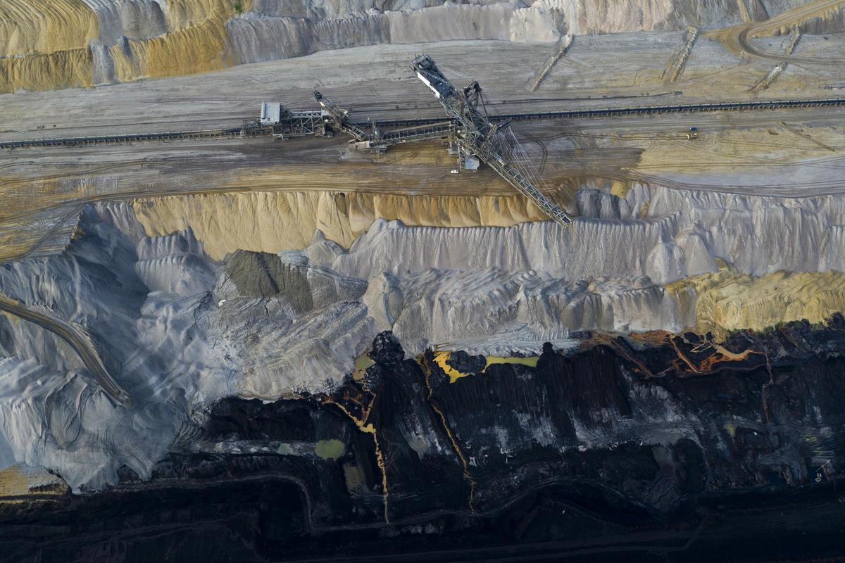 Aerials of Hambach Coal Mine in Germany. © Greenpeace