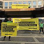 Greenpeace activists crash energy giant RWE with urgent call to quit coal