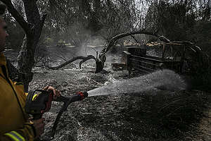 Destroyed Village after Wildfire in Israel. © Greenpeace