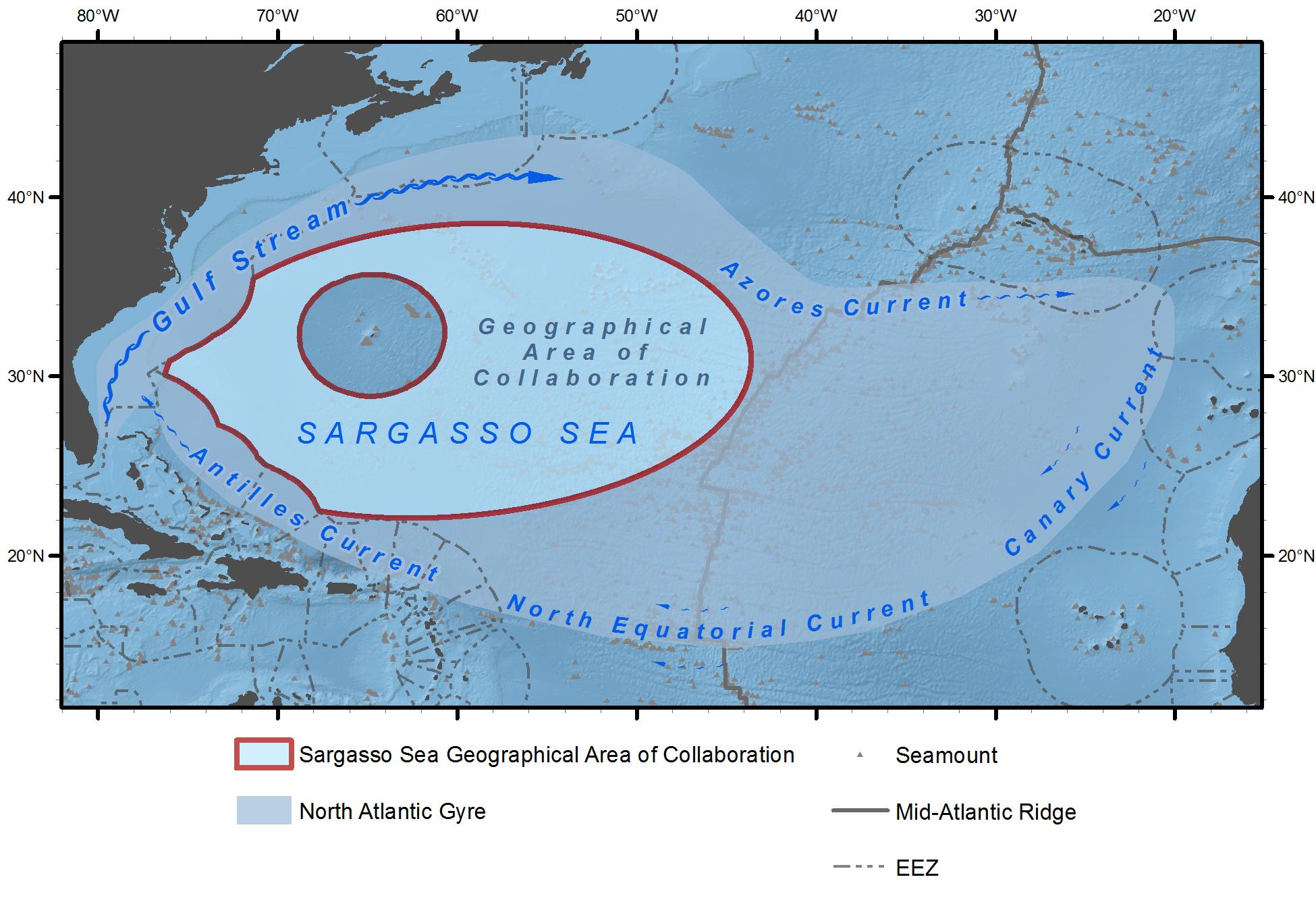 Map of the Sargasso Sea, © Marine Geospatial Ecology Lab, Duke University