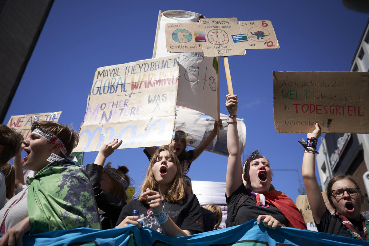 """On June 21, 2019, the first international, central climate strike of """"Fridays for Future"""" will take place in Aachen with participants from at least 16 countries. © Anne Barth / Greenpeace"""